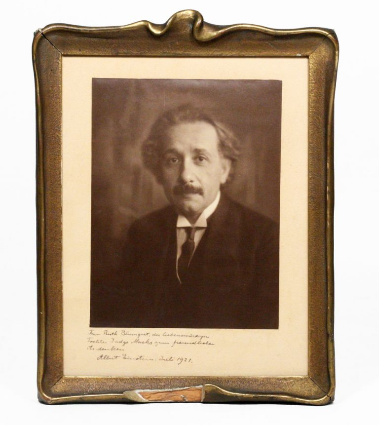 PHOTOGRAPH SIGNED AND INSCRIBED. ALBERT EINSTEIN.