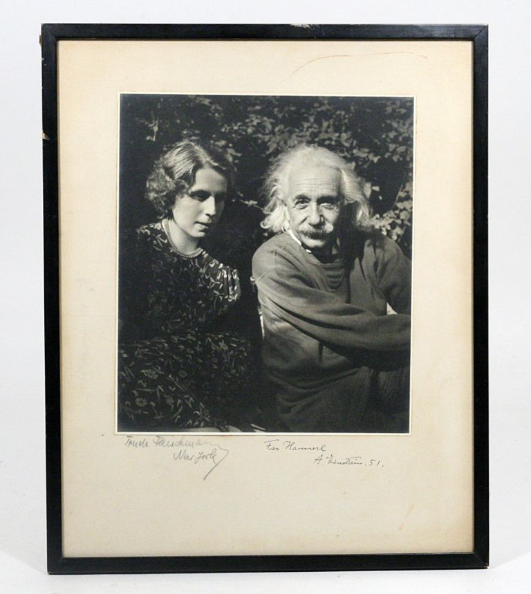 Photograph Signed. ALBERT EINSTEIN, TRUDE FLEISCHMANN.