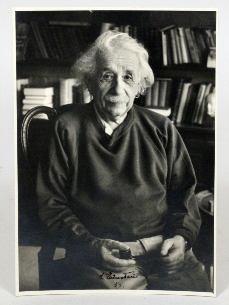 Photograph Signed. ALBERT EINSTEIN, FREDERICK PLAUT.