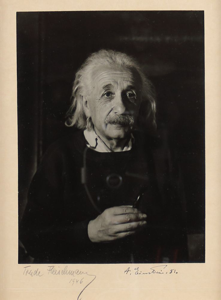 Photograph Signed. ALBERT EINSTEIN.
