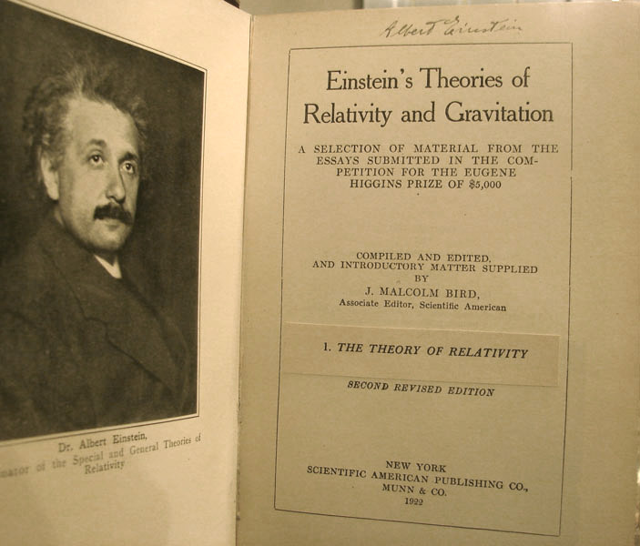 Einstein's Theories of Relativity and Gravitation: A Selection of Material from the Essays Submitted in the Competition for the Eugene Higgins Prize of $5,000. ALBERT EINSTEIN, J. MALCOLM BIRD.