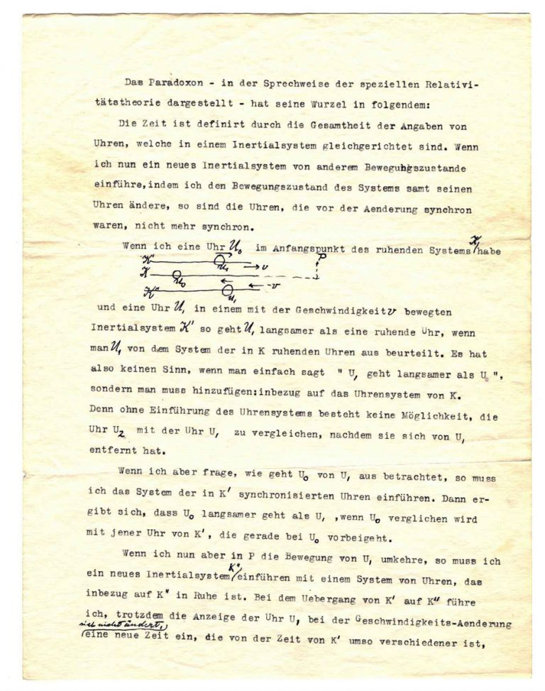 Typed Letter with Autograph Corrections on Special Relativity. ALBERT EINSTEIN.