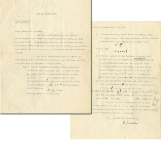 Typed Letter Signed with Hand Corrections. ALBERT EINSTEIN