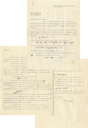Typed Letter Signed with Numerous Notations by Hand. ALBERT EINSTEIN