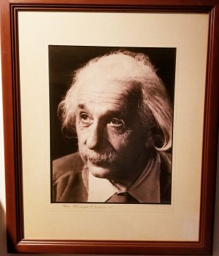 Photograph Signed and Inscribed to the Photographer Sternberger. ALBERT EINSTEIN, MARCEL STERNBERGER