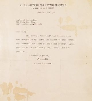 Typed Letter Signed. ALBERT EINSTEIN