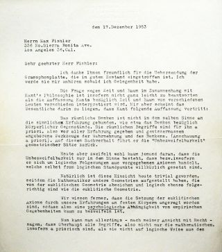 Typed Letter Signed [TLS]. ALBERT EINSTEIN