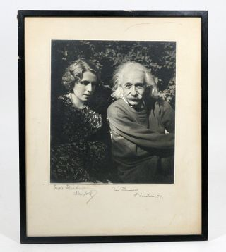 Photograph Signed. ALBERT EINSTEIN, TRUDE FLEISCHMANN