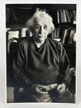 Photograph Signed. ALBERT EINSTEIN, FREDERICK PLAUT