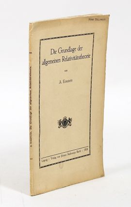 Die Grundlage der allgemeinen Relativitatstheorien [The General Theory of Relativity]. ALBERT...