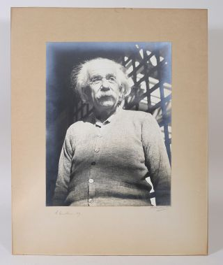 Photograph Signed. ALBERT EINSTEIN, ALAN RICHARDS