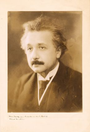 Photograph Signed with Inscription. ALBERT EINSTEIN