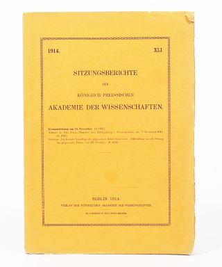 Die formale Grundlage der allgemeinen Relativitätstheorie. [The Formal Foundation of the General...