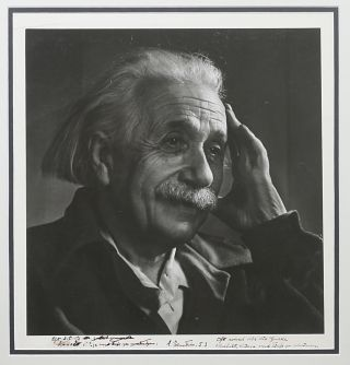 Original Signed Silver Print Photograph by Yousuf Karsh. ALBERT EINSTEIN, YOUSUF KARSH