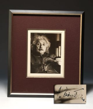 Photograph Signed. ALBERT EINSTEIN, LOTTE JACOBI