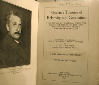 Einstein's Theories of Relativity and Gravitation: A Selection of Material from the Essays...