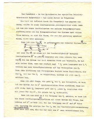 Typed Letter with Autograph Corrections on Special Relativity. ALBERT EINSTEIN
