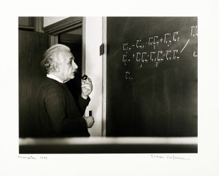Einstein at Work [Suite of Seven Photographs]. ALBERT EINSTEIN, ROMAN VISHNIAC